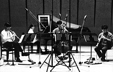 La Fontaine in the recording studio. Taken in a rehearsal -
