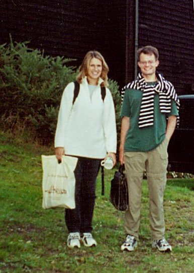 Emily Pailthorpe and Julian Milford after the recording sessions, September 2000; photo Daniel Pailthorpe